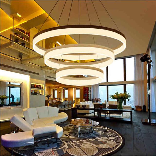 suspension moderne LED salon