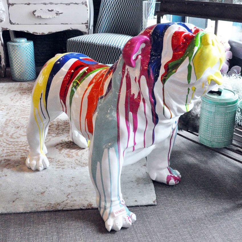 décoration Lavaur chien couleur
