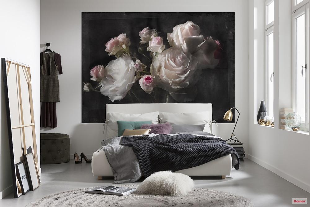 décoration chambre ambiance fleurs mur