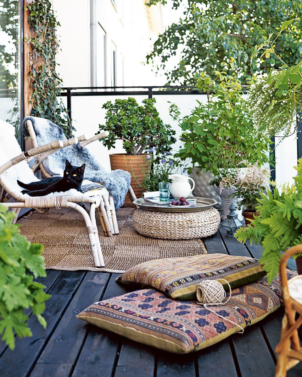 balcon bois déco scandinave