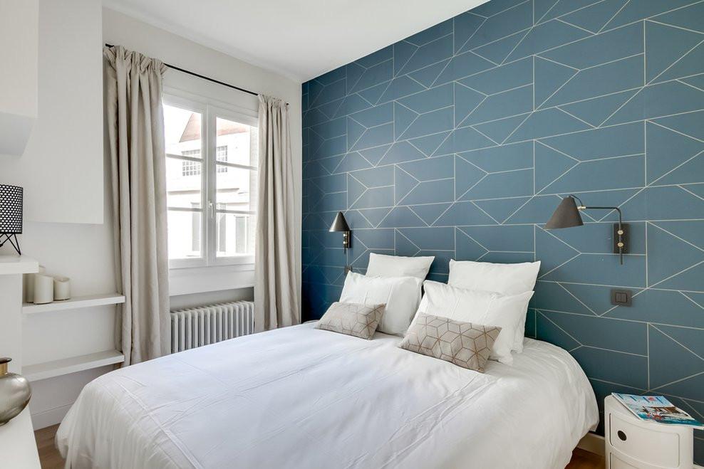 papier peint art déco tête de lit