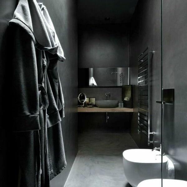 douche décoration noire