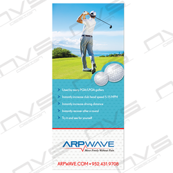 Golf Pull-up Banner