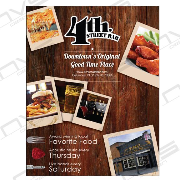 4th Street Bar & Grill Advertisement