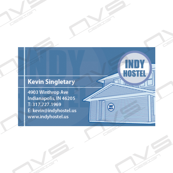 Indy Hostel Business Card
