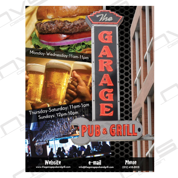 The Garage Bar & Grill Advertisement