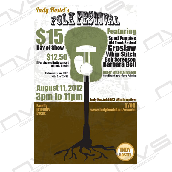 Folk Festival Postcard