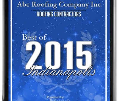 ABC Roofing Company Inc. Receives 2015 Best of Indianapolis Award