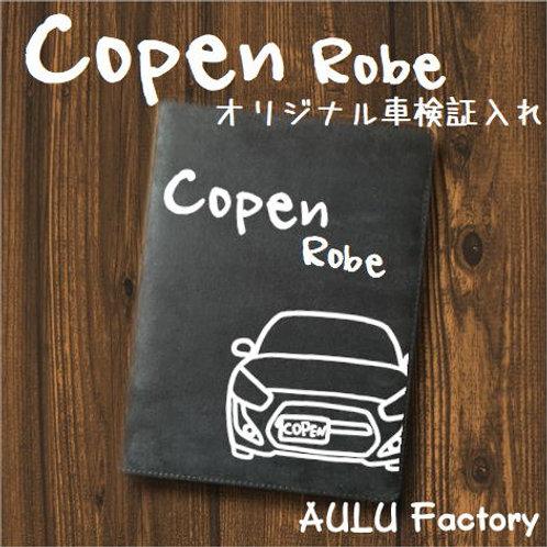 手書き風 コペン ローブ LA400 オリジナル スエード調 車検証入れ