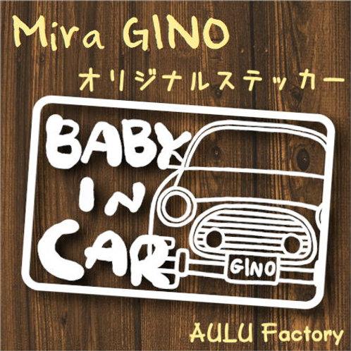 手書き風 L700 ミラジーノ Baby In Carオリジナルステッカー