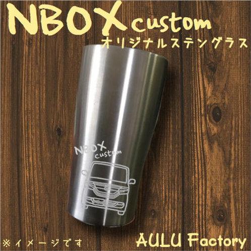 手書き風 JF3 NBOX カスタム オリジナル ステンレスタンブラー