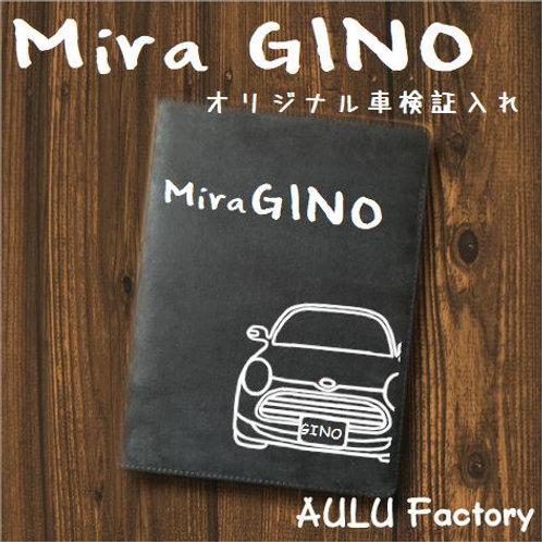 手書き風  L650 ミラジーノ  オリジナル スエード調 車検証入れ
