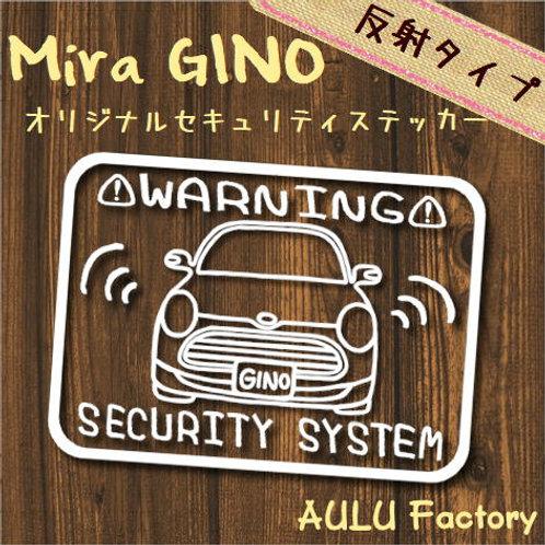 手書き風 L650 ミラジーノ オリジナル セキュリティステッカー 反射タイプ!