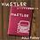Thumbnail: 手書き風 ハスラー  オリジナル スエード調 車検証入れ