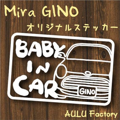 手書き風 L650 ミラジーノ Baby In Carオリジナルステッカー