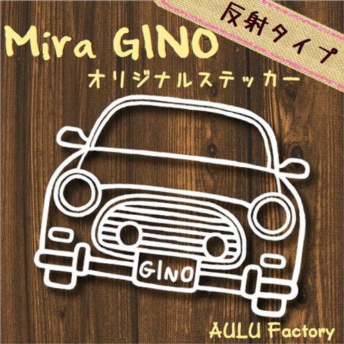 手書き風 L700 ミラジーノ オリジナル ステッカー 反射タイプ!