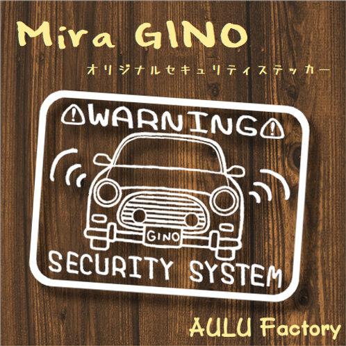手書き風 L700ミラジーノ オリジナル セキュリティステッカー