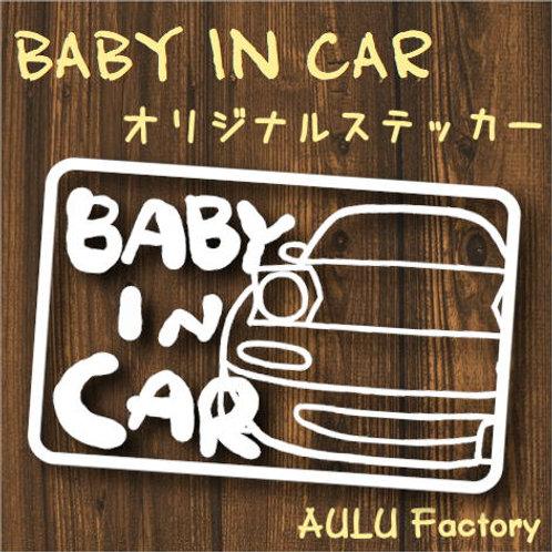 手書き風 NA ロードスター Baby In Car オリジナルステッカー