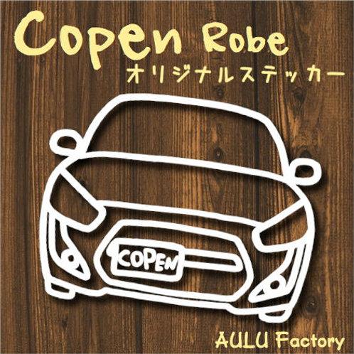 手書き風 コペン ローブ オリジナル ステッカー LA400