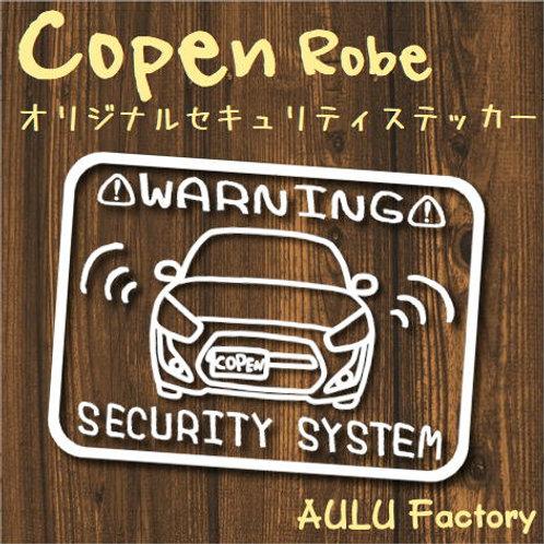 手書き風 LA400 コペン ローブ オリジナル セキュリティステッカー