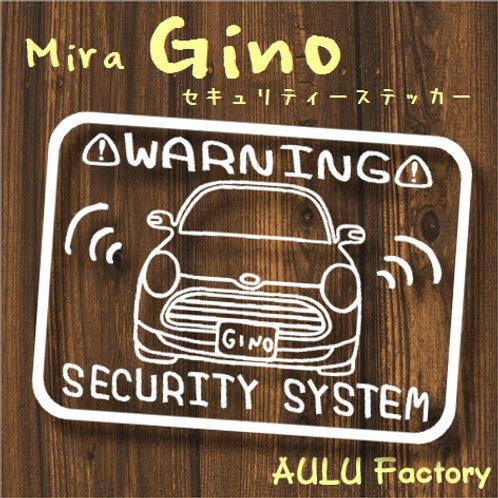 手書き風 L650ミラジーノ オリジナル セキュリティステッカー