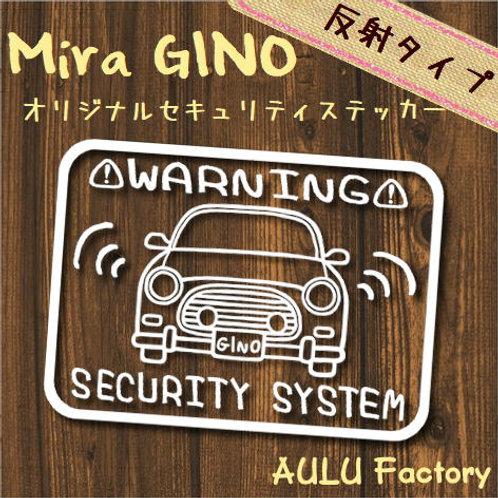 手書き風 L700 ミラジーノ オリジナル セキュリティステッカー 反射タイプ!
