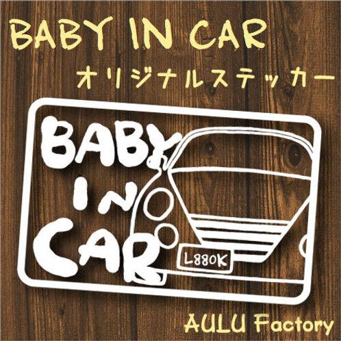 手書き風 L880K コペン Baby In Car オリジナルステッカー