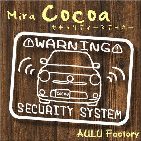 手書き風 ミラココア オリジナル セキュリティステッカー