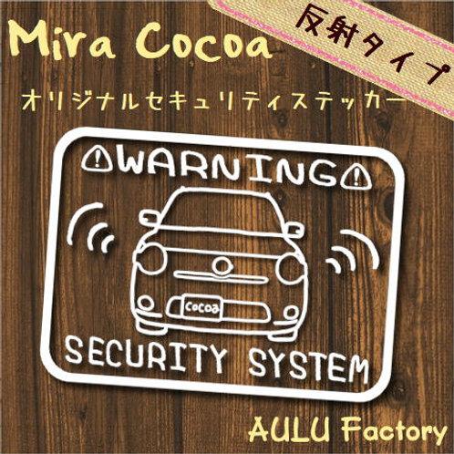手書き風 L675 ミラココア オリジナル セキュリティステッカー 反射タイプ!
