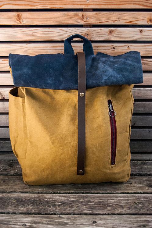 Backpack Eliah (beige-blue)