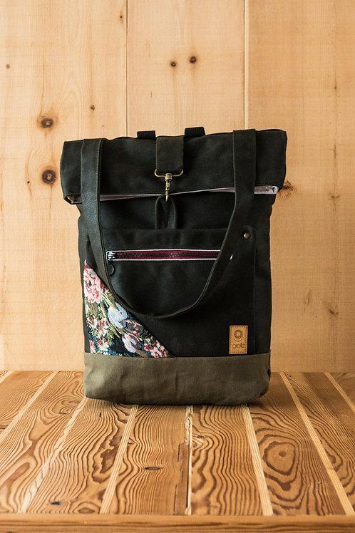 Backpack Ida green-floral)