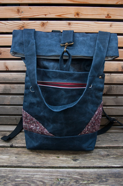 Backpack Ida (blue-bordeaux)