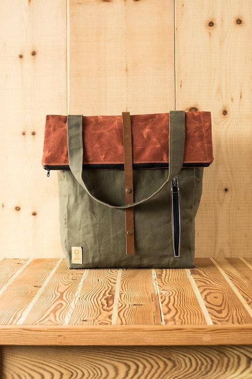 Backpack Samuel (green-orange)