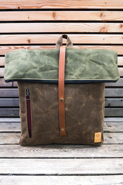 Backpack Mira (brown-green)