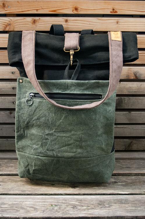 Backpack Mali (green-black-bown)