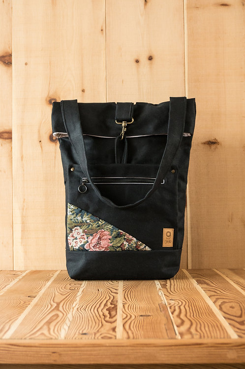 Backpack Ida (black-floreal)