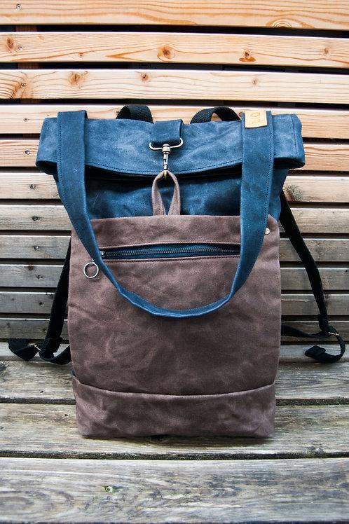Backpack Ida (blue-brown)