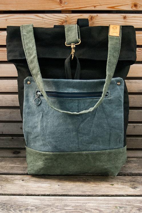 Backpack Mali (green-black-blue)