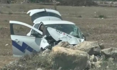 Destroyed GoTo Car Found In Gozo Field - Police Searching For Escaped Driver