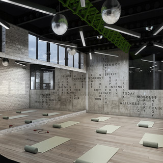 Pilates & Yoga Room Render