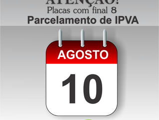 SC: Parcelamento IPVA para placas final 8