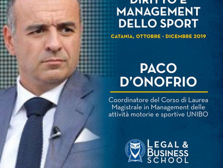 Master in Diritto e Management dello Sport