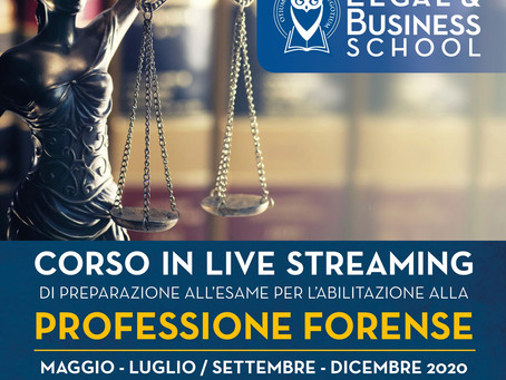 LIVE STREAMING SCUOLA FORENSE
