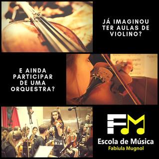 Curso de Violino + Prática de Conjunto na Orquestra!