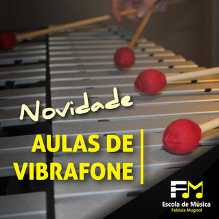 [NOVIDADE] Aulas de Vibrafone