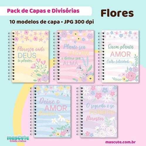 Pack de Capas e Divisórias | Coleção color | Floral