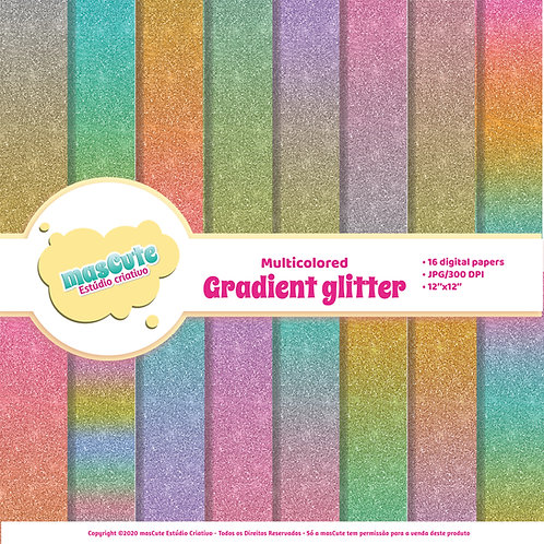 Papel digital Glitter degradê