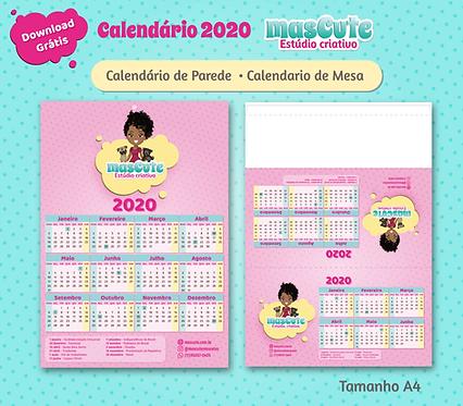 Calendário masCute 2020