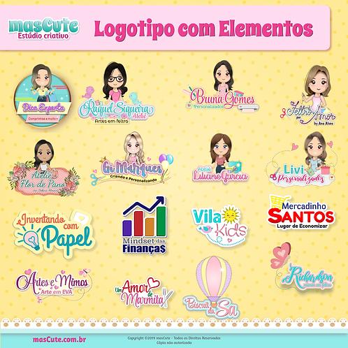 Logotipo com elemento