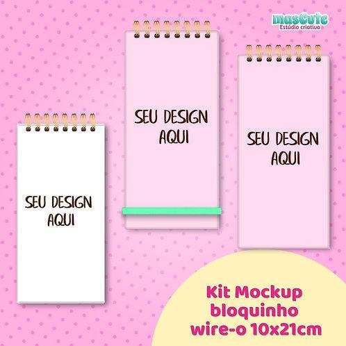 Kit Mockup bloquinho wire-o 10x21cm